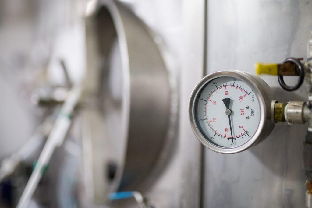 Brewery Tank with Pressure Gauge