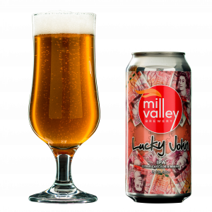 Lucky John in Glass With Can