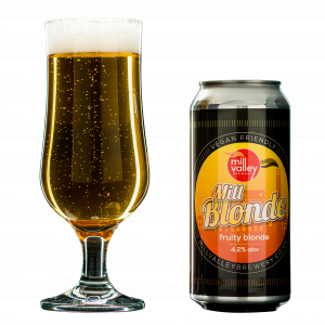Mill Blonde in Glass With Can