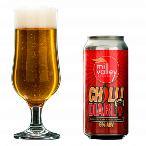 Chilli Diablo in Glass with Can