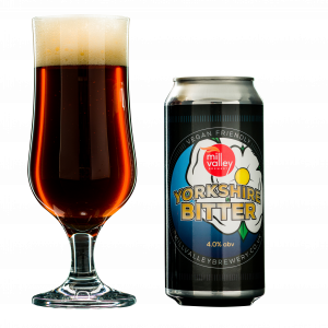 Yorkshire Bitter in Glass with Can