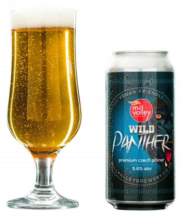 Wild Panther in Glass with Can