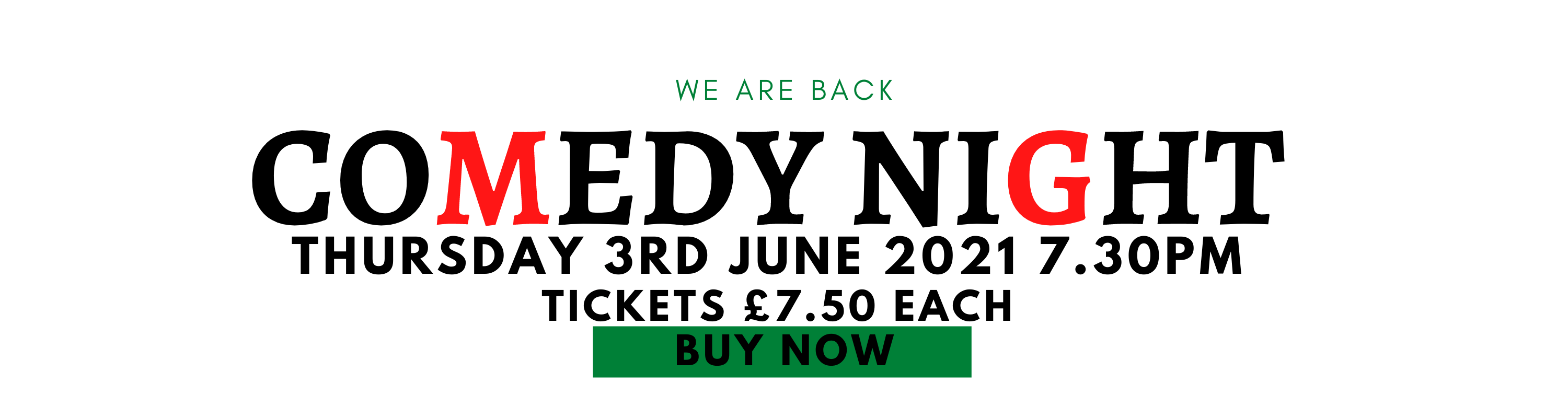 Comedy Night Banner